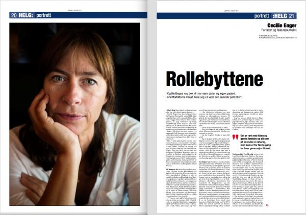 Faksimile frå Dagsavisen  juli 2017. Foto: Wanda N. Nordstrøm